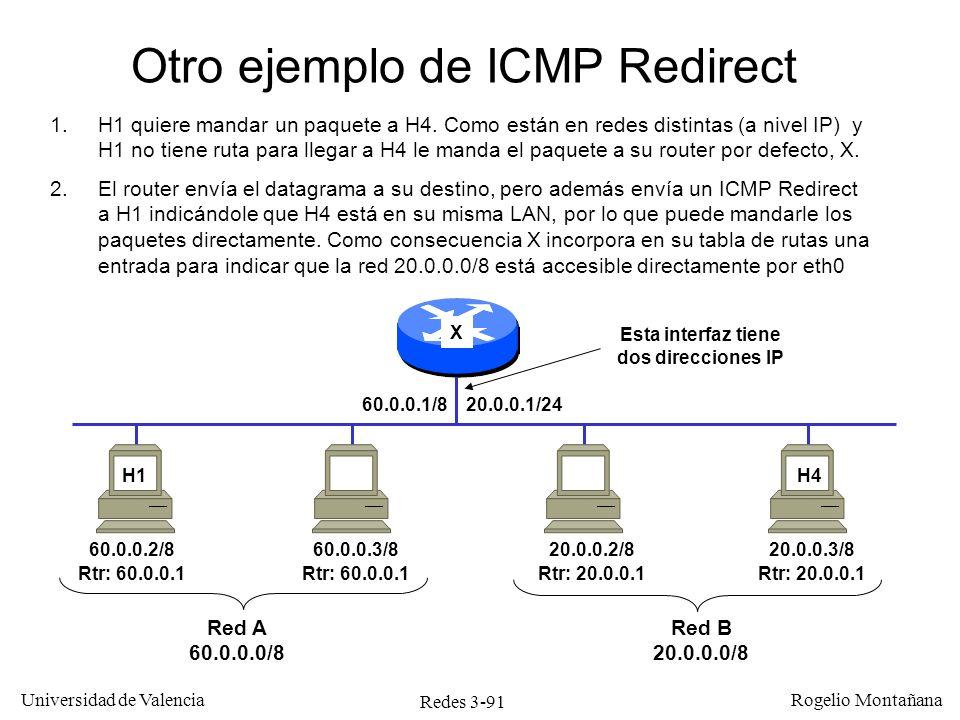Redes 3-91 Universidad de Valencia Rogelio Montañana 60.0.0.2/8 Rtr: 60.0.0.1 60.0.0.3/8 Rtr: 60.0.0.1 20.0.0.2/8 Rtr: 20.0.0.1 20.0.0.3/8 Rtr: 20.0.0