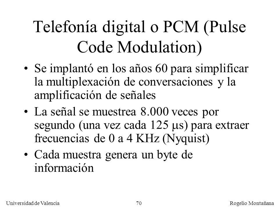 69 Universidad de Valencia Rogelio Montañana 100 Hz1 KHz 10 KHz Frecuencia 100 KHz 10 Hz Potencia relativa 0 dB -20 dB -40 dB -60 dB Rango dinámico ap