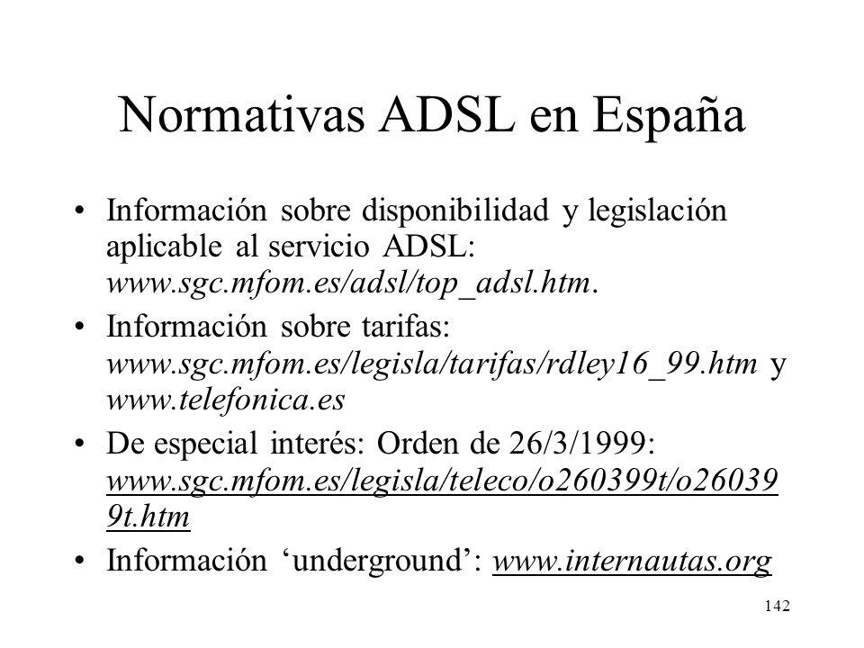 141 ADSL en España Telefónica (TeleLine) ofrece el servicio GigADSL en régimen de tarifa plana desde el 15 de septiembre de 1999 en las siguientes mod