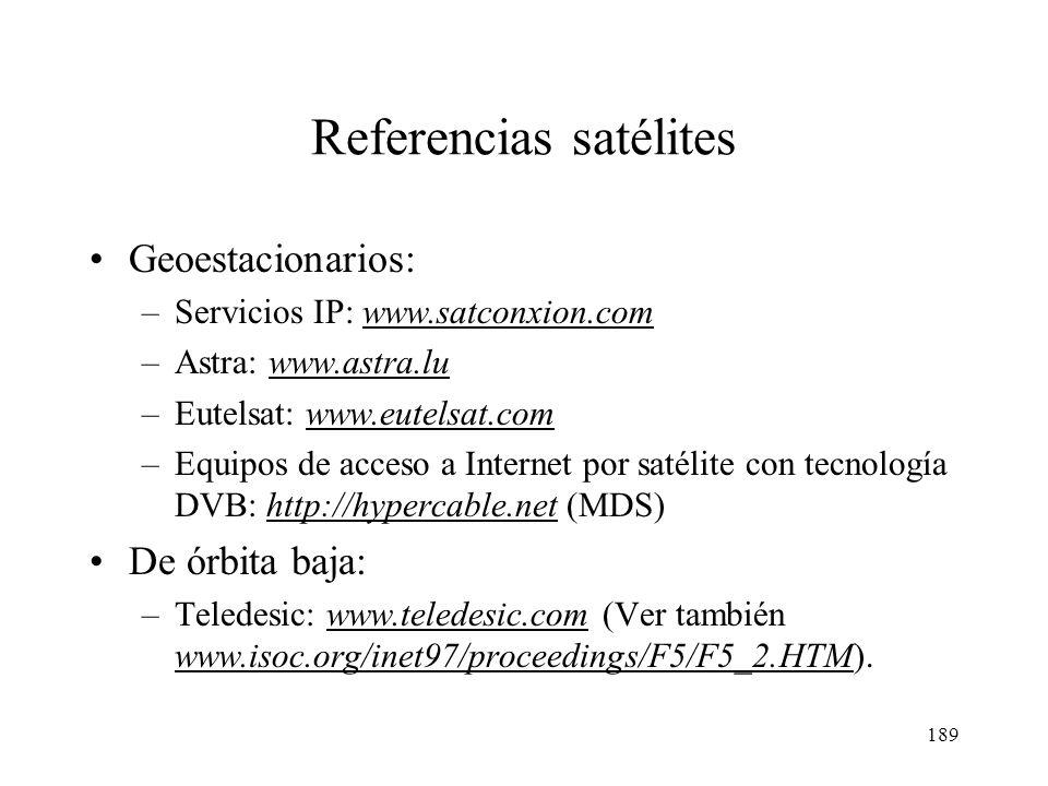 188 Funcionamiento de la constelación Teledesic