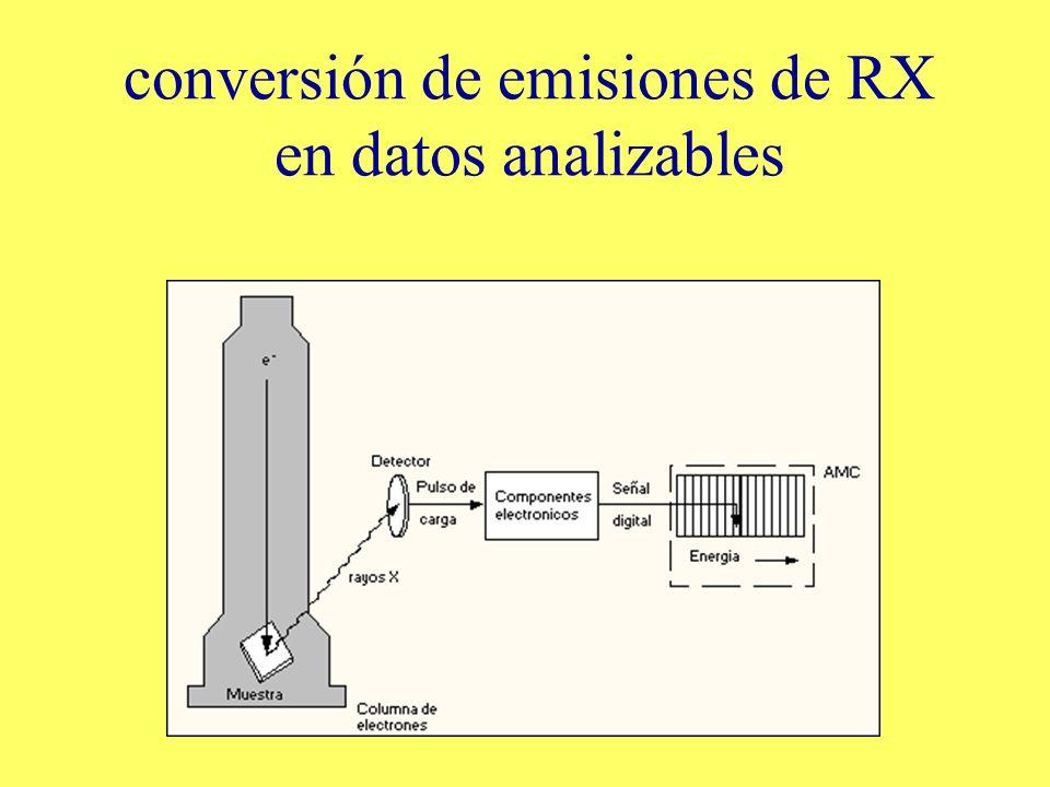 conversión de emisiones de RX en datos analizables