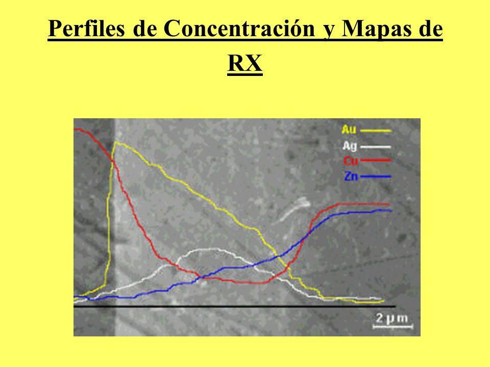 Perfiles de Concentración y Mapas de RX
