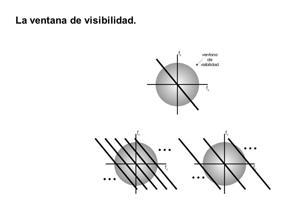 La ventana de visibilidad.
