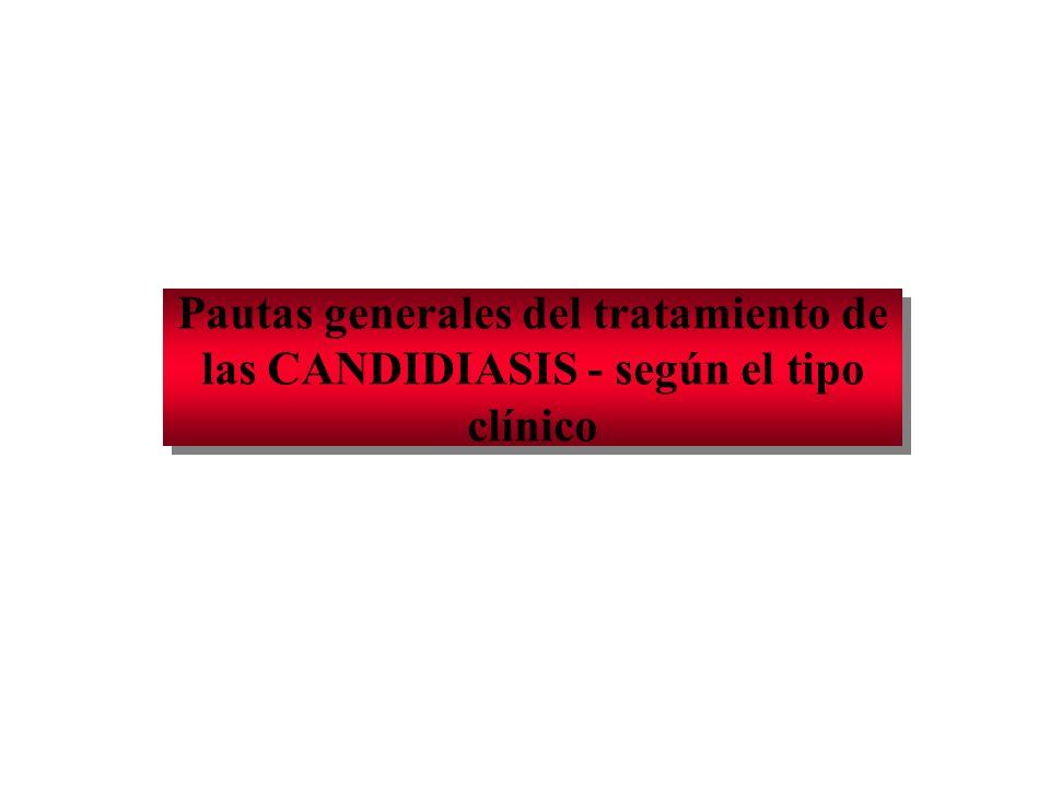 1.CANDIDOSIS PSEUDOMEMBRANOSA 1. Tratar los factores predisponentes.