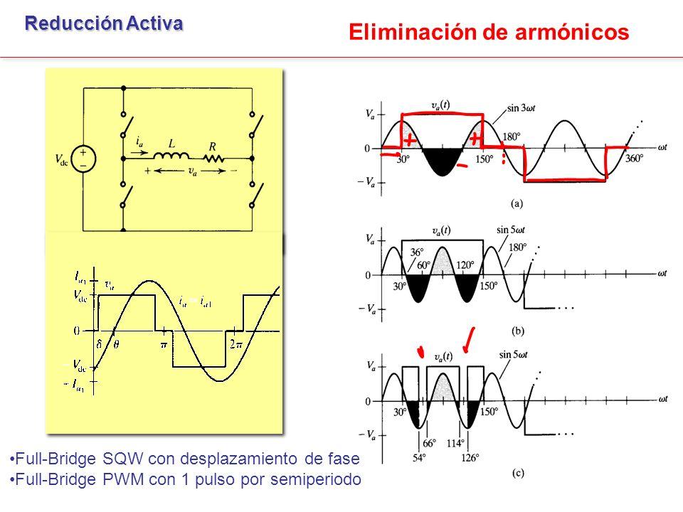 Cancelación de armónicos. Reducción Activa Elimina 5º armónico Elimina 3º armónico