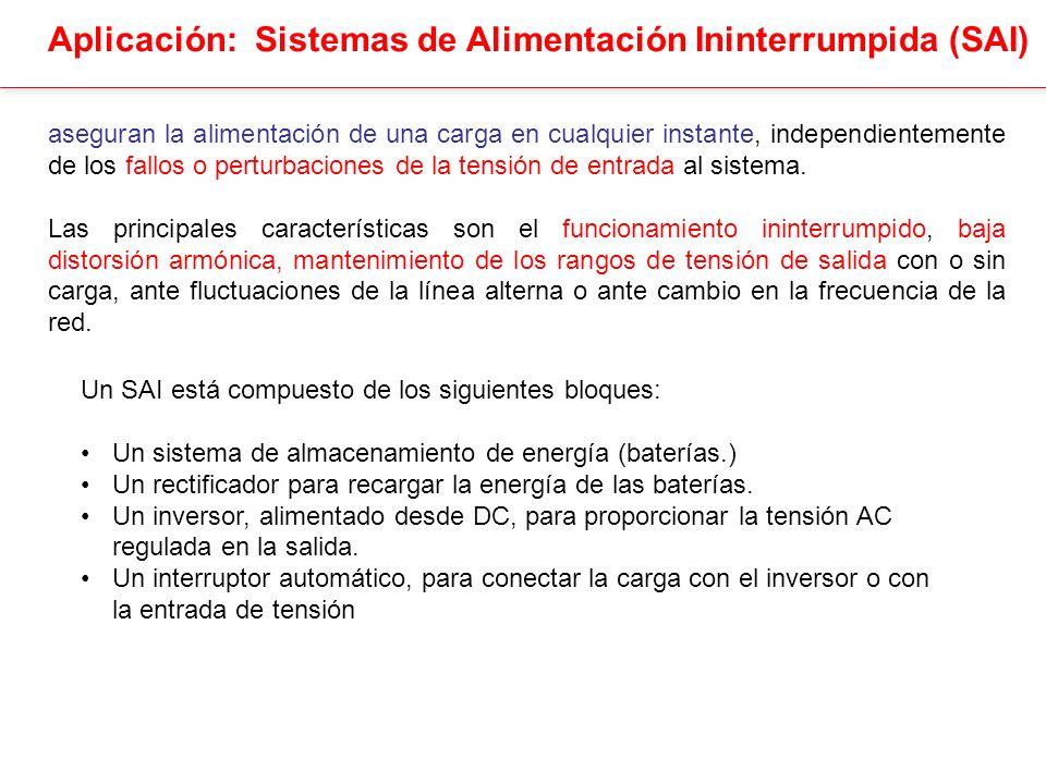Sistemas de Alimentación Ininterrumpida (SAI) Funcionamiento Normal Fallo en la línea de alterna Fallo en el Inversor SAI on-line SAI off-line