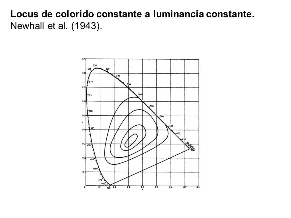 Locus de colorido constante a luminancia constante. Newhall et al. (1943).