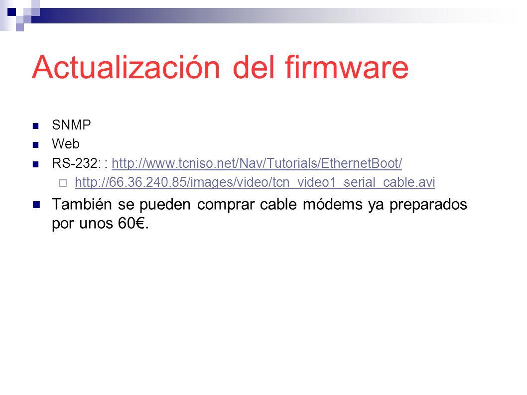 Actualización del firmware SNMP Web RS-232: : http://www.tcniso.net/Nav/Tutorials/EthernetBoot/http://www.tcniso.net/Nav/Tutorials/EthernetBoot/ http: