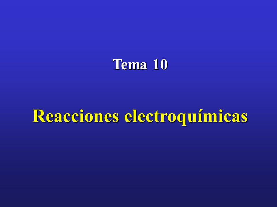 Tema 10 Reacciones electroquímicas