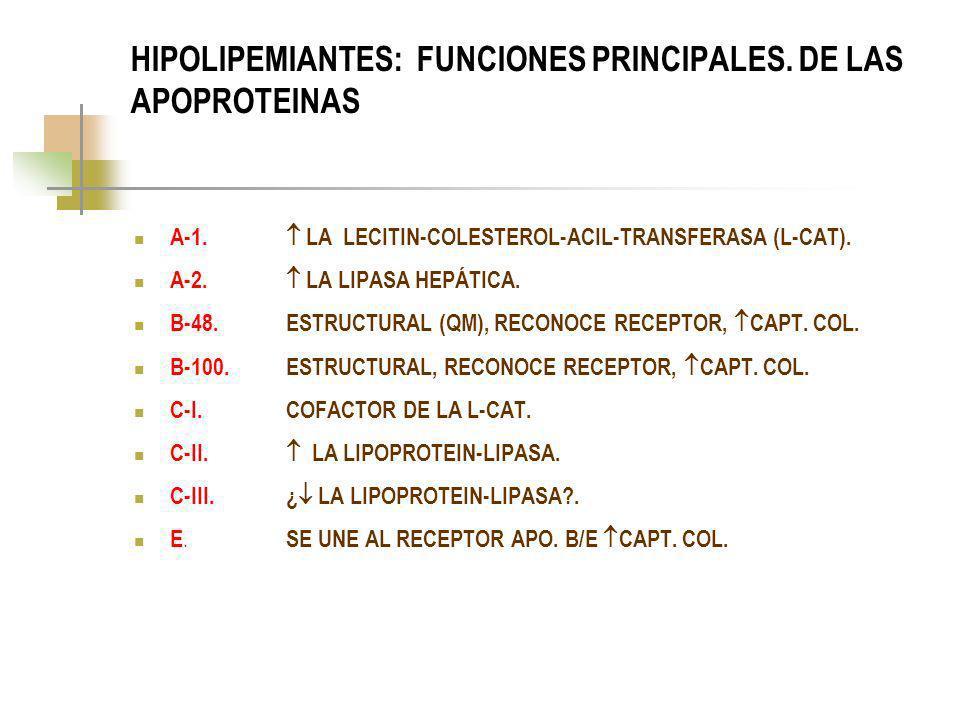HIPOLIPEMIANTES: CLASIFICACIÓN.INHIBIDORES DE LA HMG-CoA REDUCTASA: SIMVASTATINA.