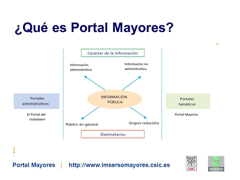 Portal Mayores | http://www.imsersomayores.csic.es 1.