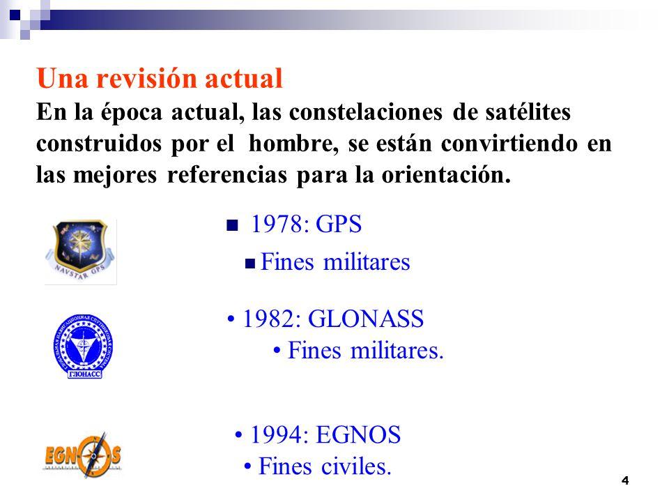 4 Una revisión actual En la época actual, las constelaciones de satélites construidos por el hombre, se están convirtiendo en las mejores referencias