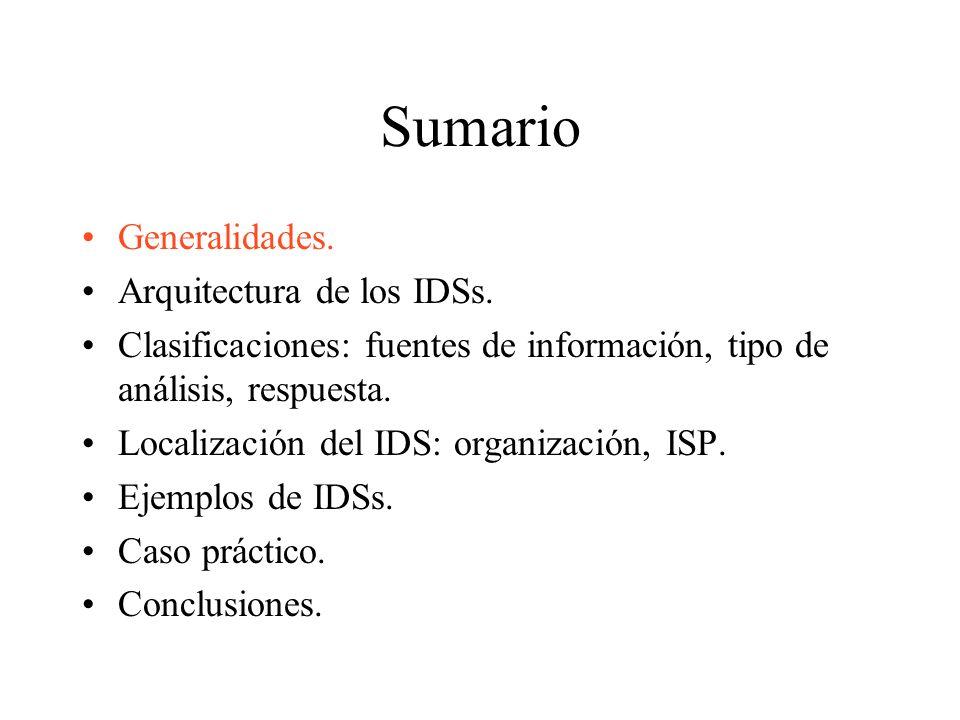 IDSs basados en host (HIDS) Operan sobre los logs del sistema.