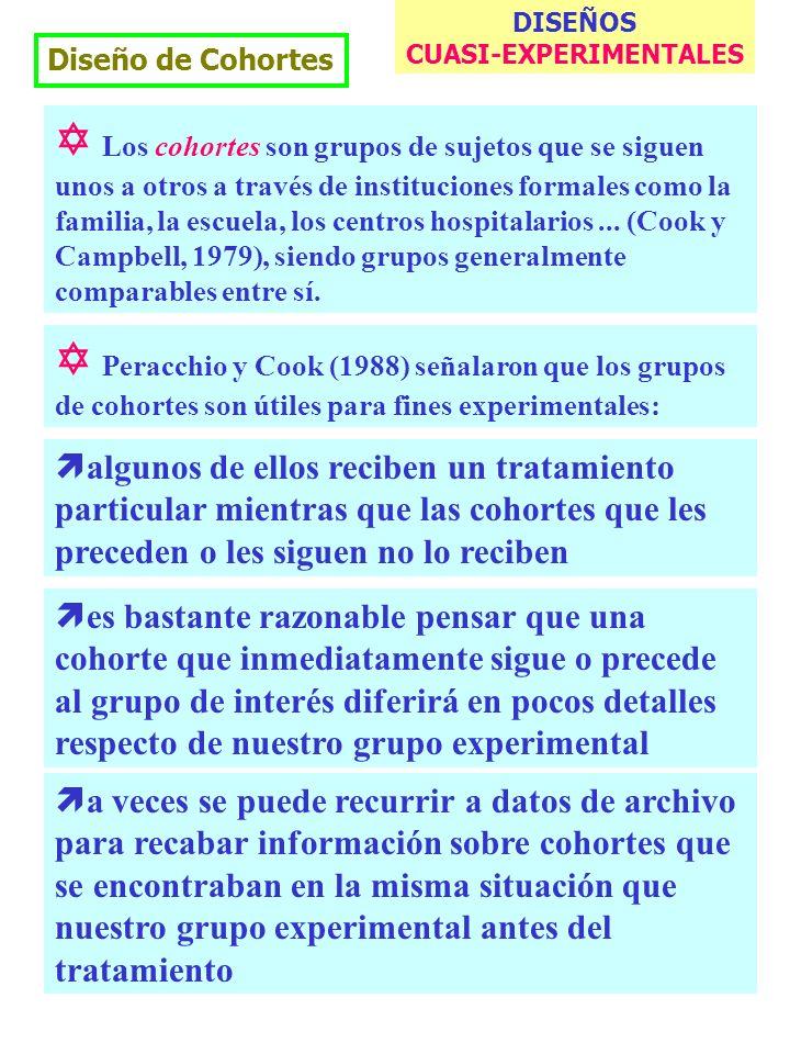 M. Dolores Frías http://www.uv.es/friasnav13 Diseño de Cohortes Los cohortes son grupos de sujetos que se siguen unos a otros a través de institucione