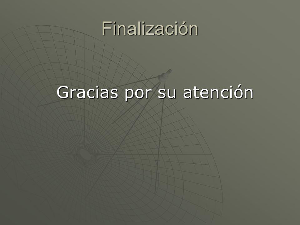 Finalización Gracias por su atención