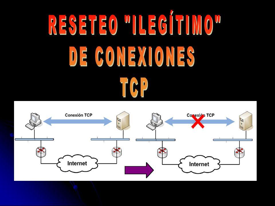 17/01/2014Trabajo Redes - ETSE UV - 200722 4.- RESETEO DE CONEXIONES TCP No hay tanto que adivinar… IP Servidor: Seguro que es conocida IP Cliente: Puede ser conocida mediante sniffing Puerto Servidor: usualmente será conocido Puerto Cliente: ?.