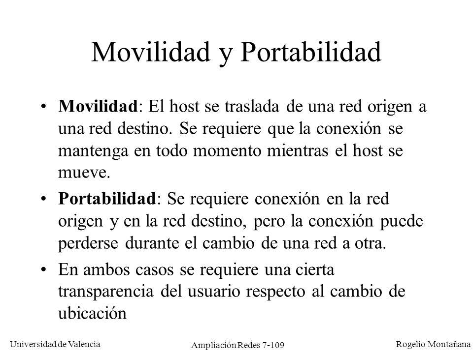 Universidad de Valencia Rogelio Montañana Ampliación Redes 7-110 ¿Qué es IP móvil.