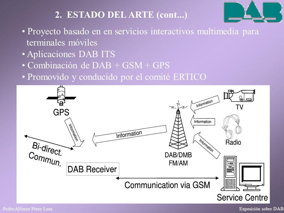 Pedro Alfonso Pérez Losa. Exposición sobre DAB 2. ESTADO DEL ARTE (cont...) Proyecto basado en en servicios interactivos multimedia para terminales mó