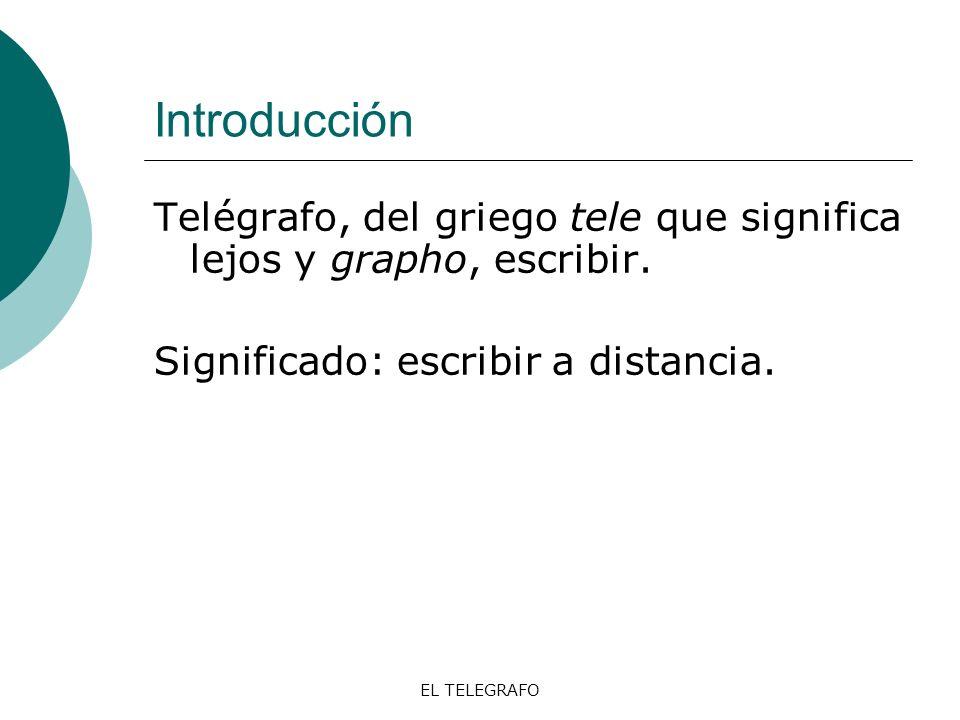 EL TELEGRAFO El telégrafo eléctrico, Morse -El primer modelo 1835.