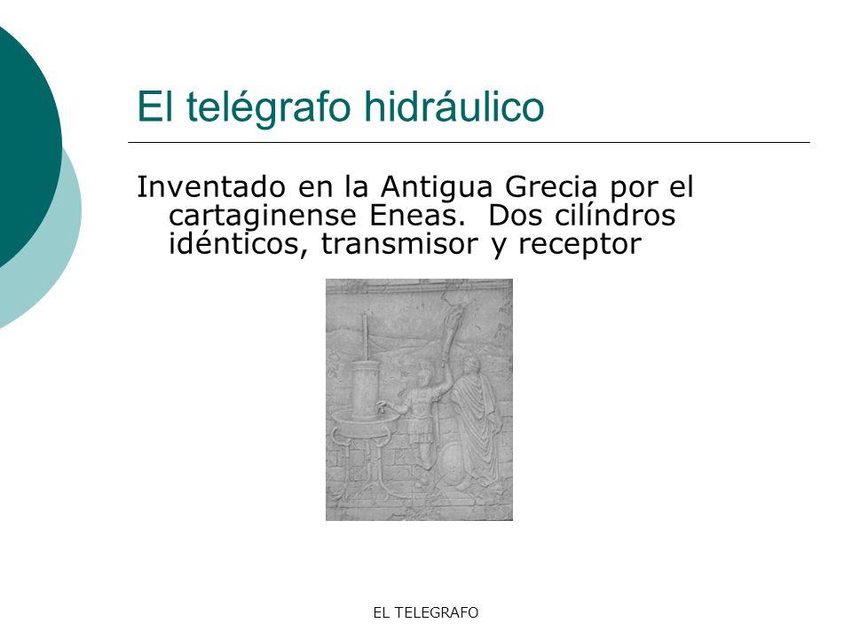 EL TELEGRAFO El telégrafo óptico Claude Chappe y Abraham Louis Breguet, 1790.