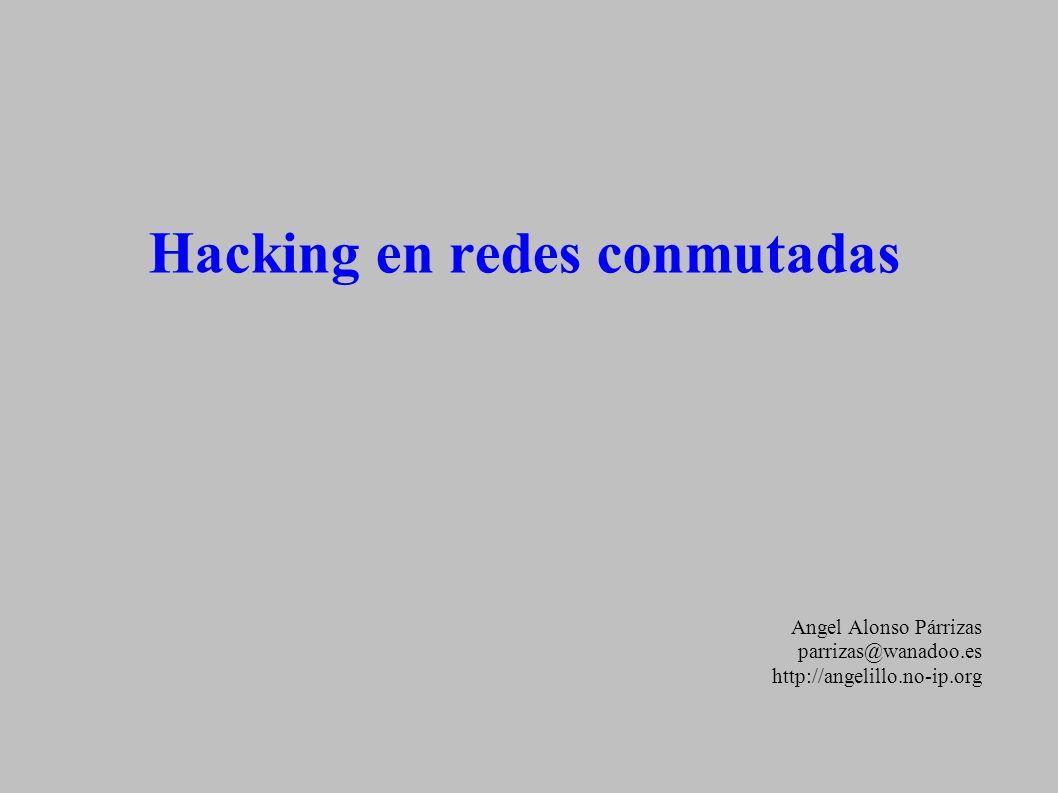 Hacking en redes conmutadas Angel Alonso Párrizas parrizas@wanadoo.es http://angelillo.no-ip.org