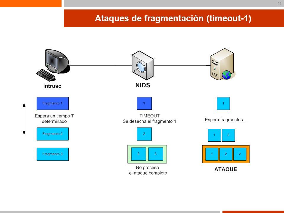 12 Ataques de fragmentación (timeout-2)