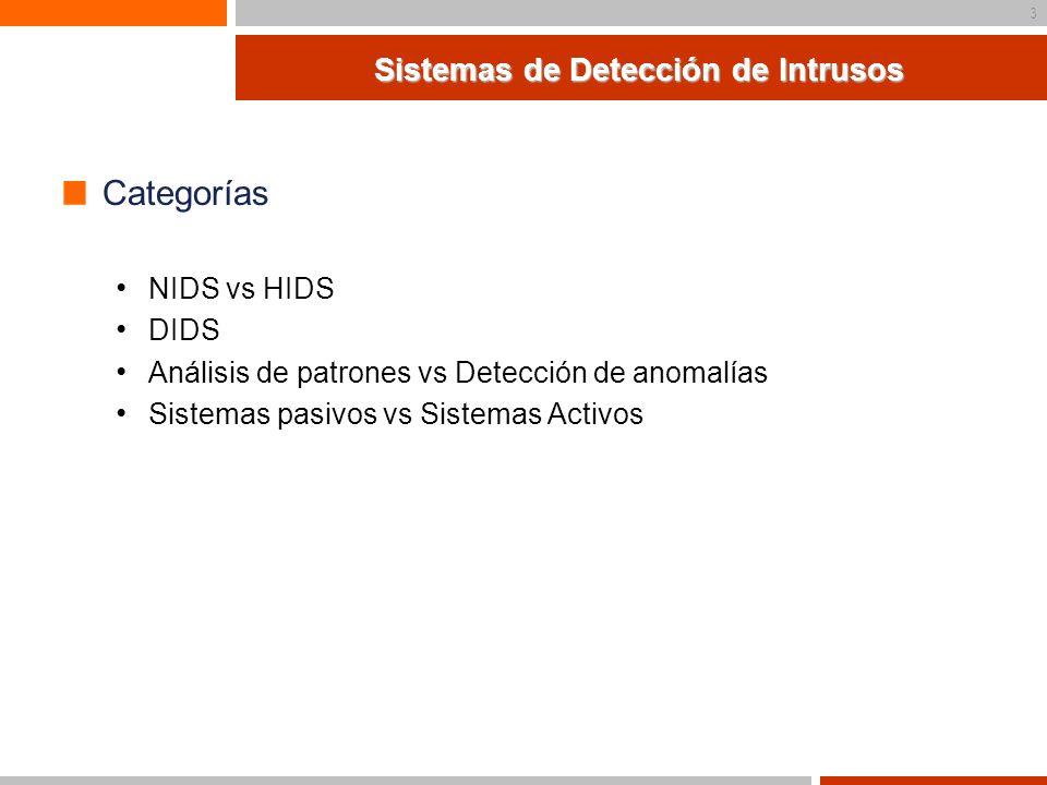 4 Problemática de los IDS Falsas alertas Falsos positivos Falsos negativos Insuficiente información Datos de la topología Estado de la red Congestiones o problemas Tipo de S.O.
