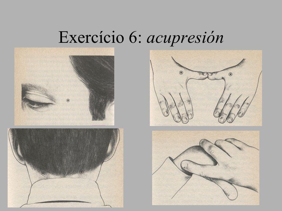 Exercício 6: acupresión