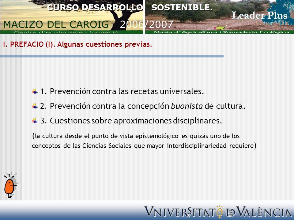 I. PREFACIO (I). Algunas cuestiones previas. 1.