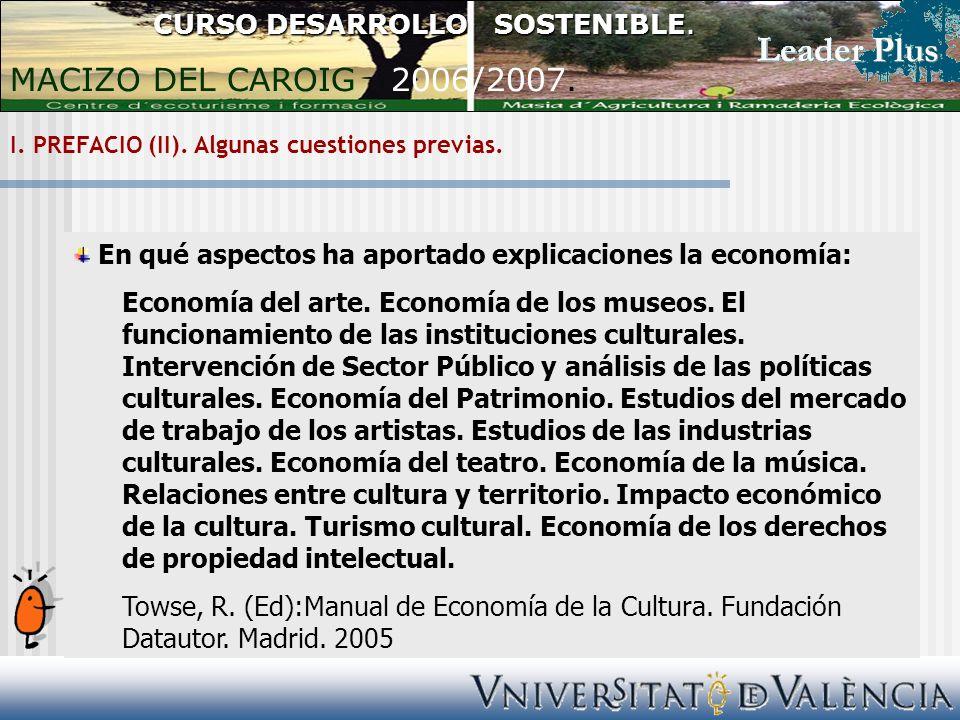 I. PREFACIO (II). Algunas cuestiones previas.