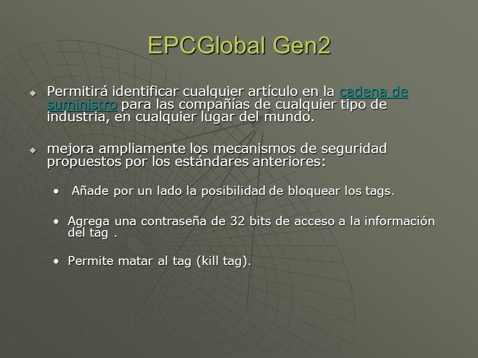 EPCGlobal Gen2 Permitirá identificar cualquier artículo en la cadena de suministro para las compañías de cualquier tipo de industria, en cualquier lug