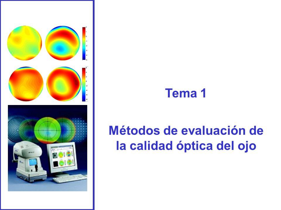 Tema 1 Métodos de evaluación de la calidad óptica del ojo