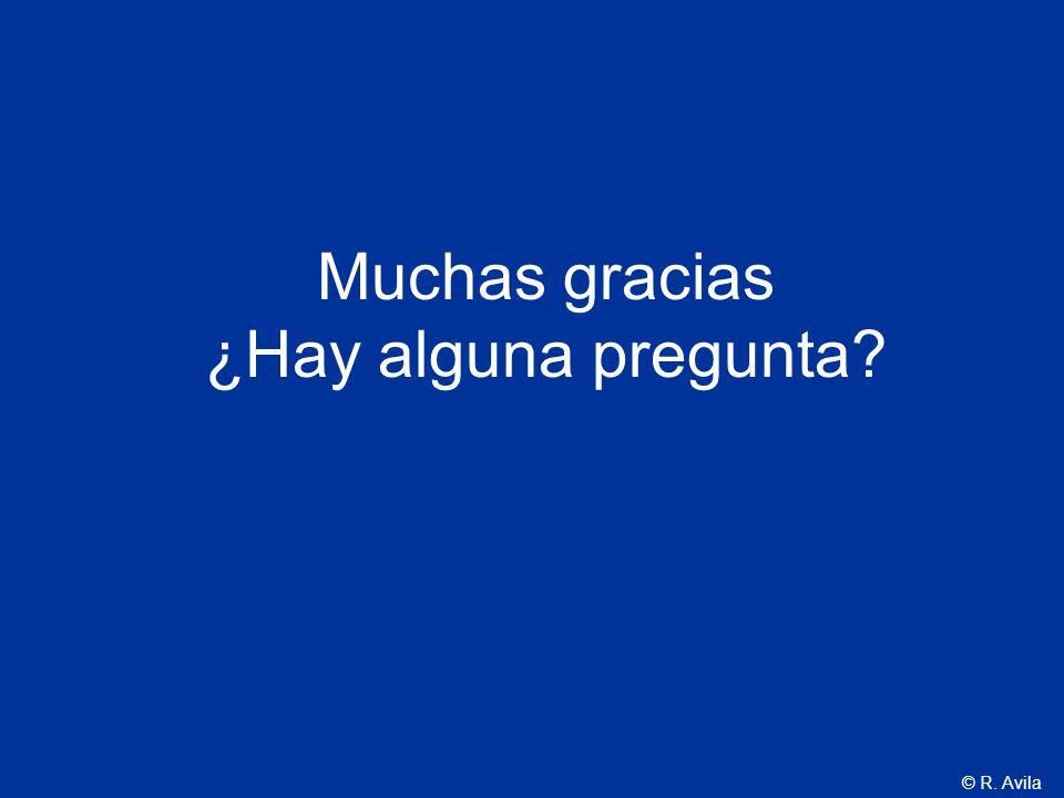 © R. Avila Muchas gracias ¿Hay alguna pregunta?