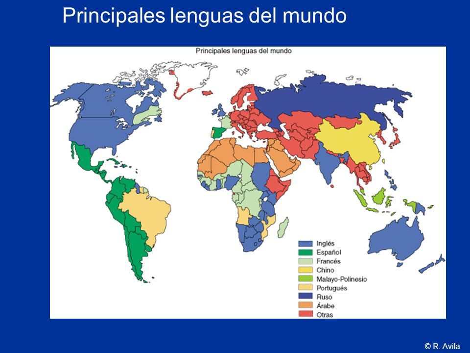 © R. Avila Principales lenguas del mundo