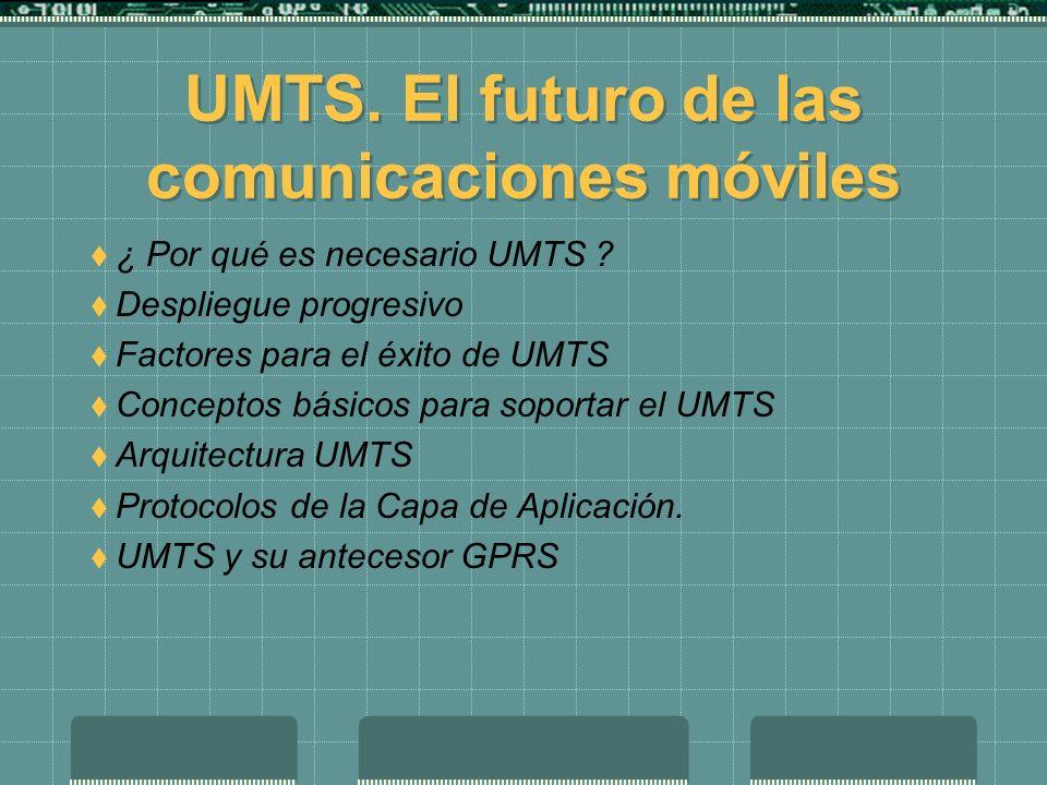 Trabajo para la asignatura de Redes UMTS. El futuro de las comunicaciones móviles Luis Carbó Gandia Septembre de 2002