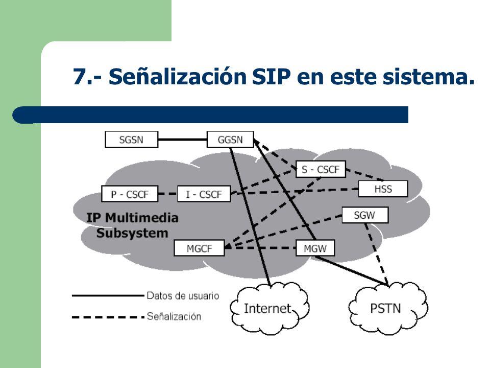 7.- Señalización SIP en este sistema.