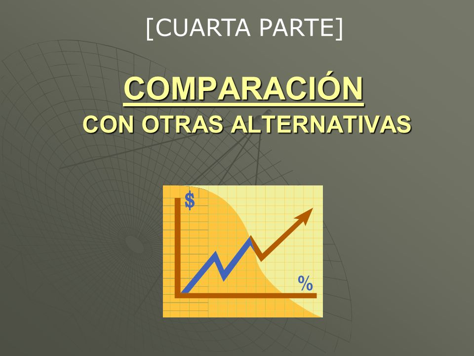 COMPARACIÓN CON OTRAS ALTERNATIVAS [CUARTA PARTE]