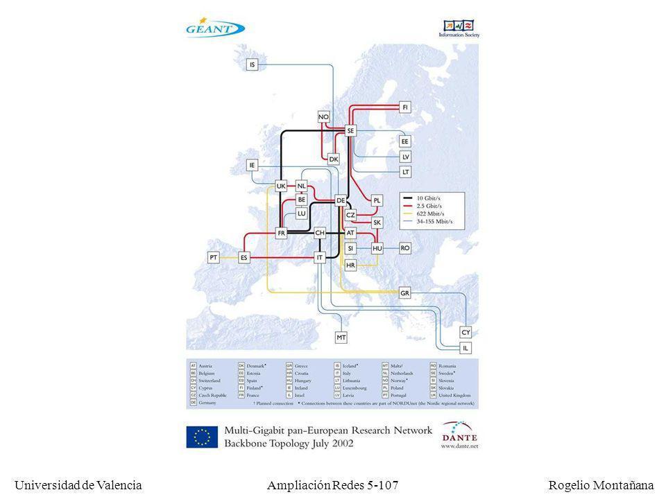 Universidad de Valencia Rogelio Montañana Ampliación Redes 5-107