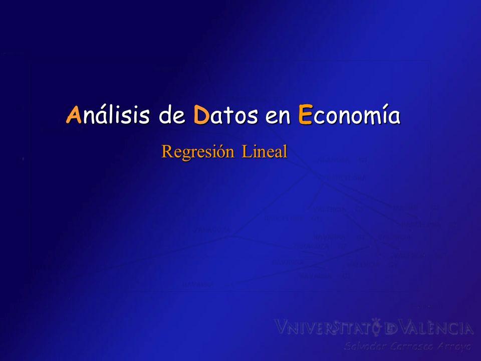 Regresión Lineal Análisis de Datos en Economía