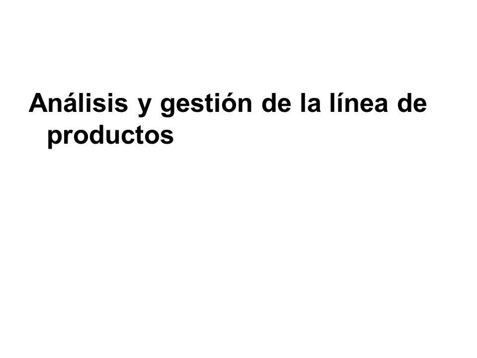 Análisis y gestión de la línea de productos