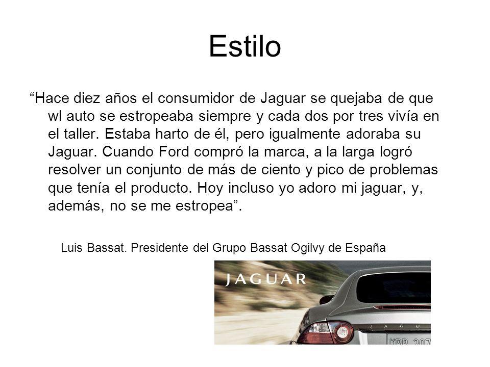Estilo Hace diez años el consumidor de Jaguar se quejaba de que wl auto se estropeaba siempre y cada dos por tres vivía en el taller. Estaba harto de