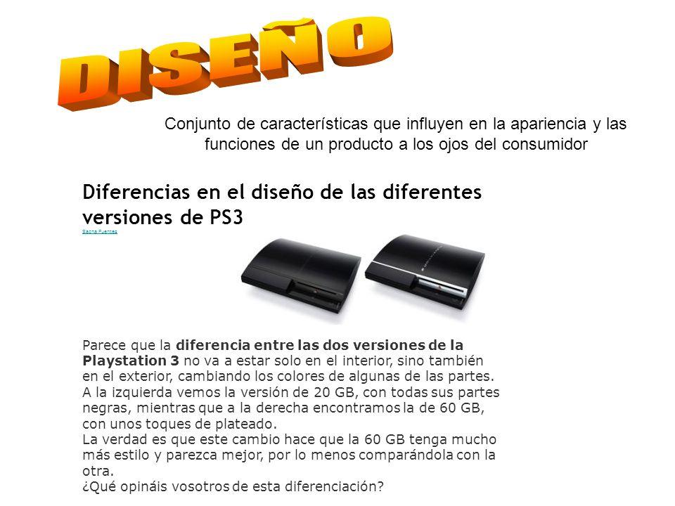 Diferencias en el diseño de las diferentes versiones de PS3 Sacha Fuentes Parece que la diferencia entre las dos versiones de la Playstation 3 no va a estar solo en el interior, sino también en el exterior, cambiando los colores de algunas de las partes.