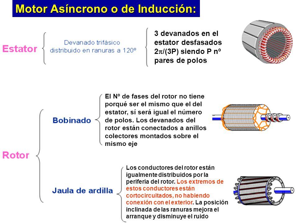 Introd. A la Electrónica de PotenciaCurso 2005/06Universitat de València 3 devanados en el estator desfasados 2 /(3P) siendo P nº pares de polos El Nº
