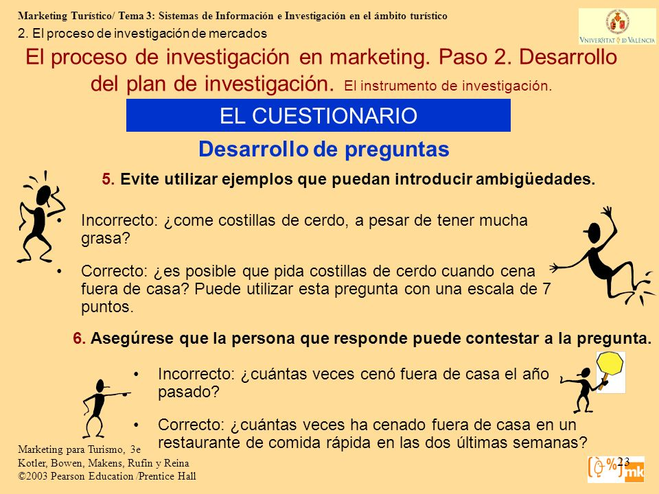 Marketing Turístico/ Tema 3: Sistemas de Información e Investigación en el ámbito turístico 23 Marketing para Turismo, 3e Kotler, Bowen, Makens, Rufin