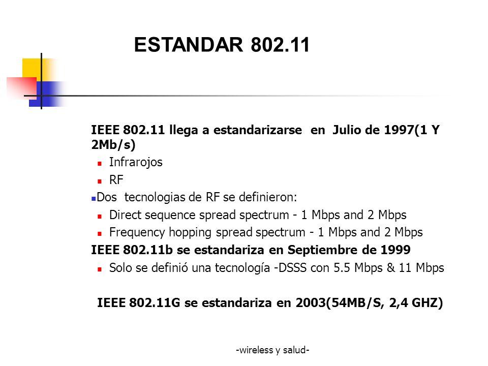 -wireless y salud- LO QUE DICE LA ORGANIZACION MUNDIAL DE LA SALUD Proyecto internacional CEM en 1996.