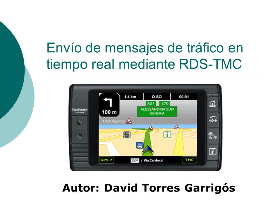 2 Índice Introducción RDS TMC Servidor RDS-TMC Referencias