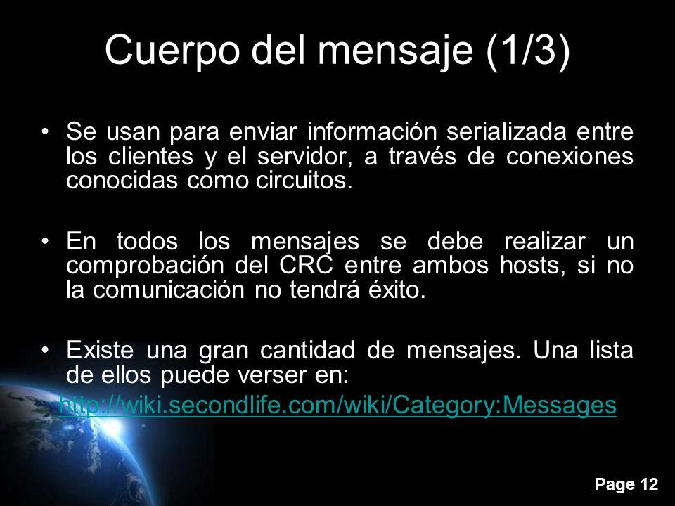 Page 11 Índice Introducción Paquetes Cuerpo del mensaje Circuitos Sistema de mensajes Arquitectura del cliente Arquitectura del servidor