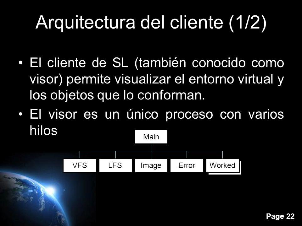 Page 21 Índice Introducción Paquetes Cuerpo del mensaje Circuitos Sistema de mensajes Arquitectura del cliente Arquitectura del servidor