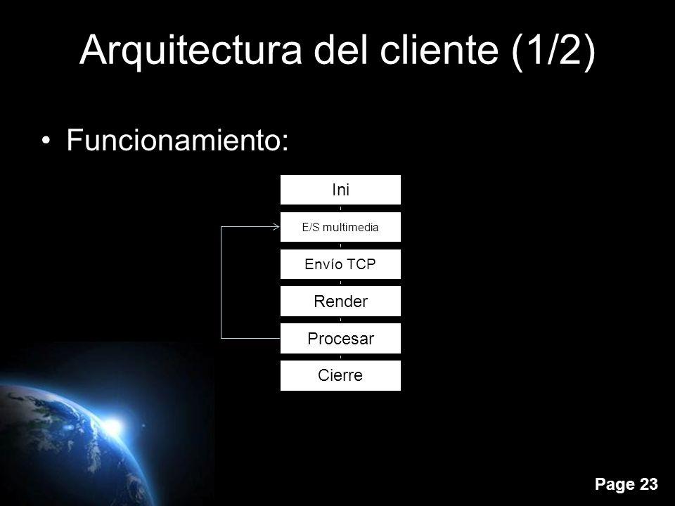 Page 22 Arquitectura del cliente (1/2) El cliente de SL (también conocido como visor) permite visualizar el entorno virtual y los objetos que lo conforman.