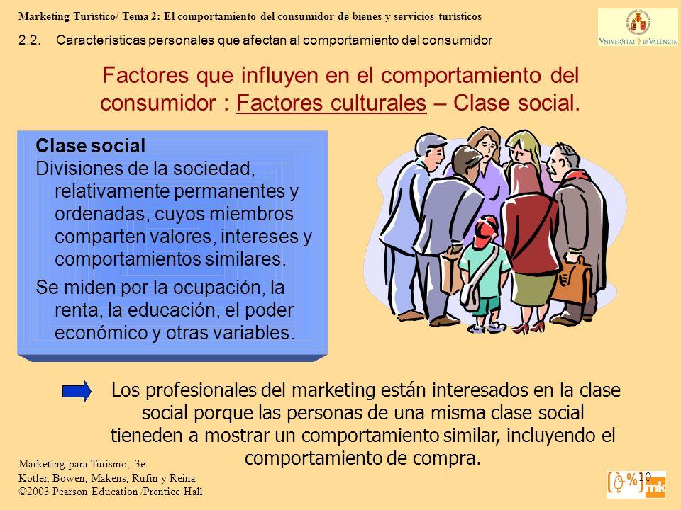 Marketing Turístico/ Tema 2: El comportamiento del consumidor de bienes y servicios turísticos 10 Marketing para Turismo, 3e Kotler, Bowen, Makens, Ru